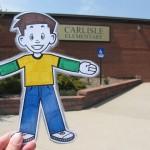 Flat Stanley at Carlisle Elementary School