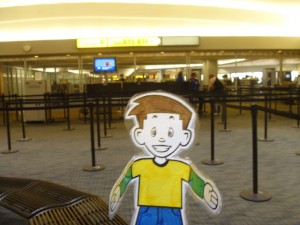 Flat Stanley at the Columbus, Ohio airport