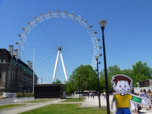 Flat Stanley at the London Eye
