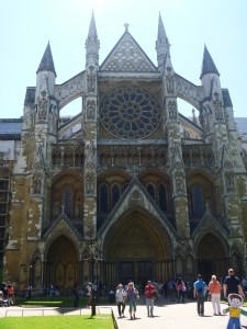 Flat Stanley at Westminster Abbey