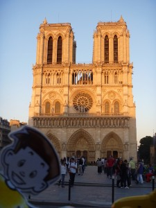 Flat Stanley at Notre Dame