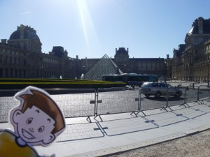 Flat Stanley at the Louvre