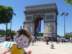 Flat Stanley at the Arc de Triomphe