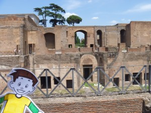 Flat Stanley at Palatine Hill