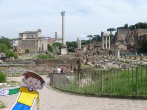 Flat Stanley at the Roman Forum