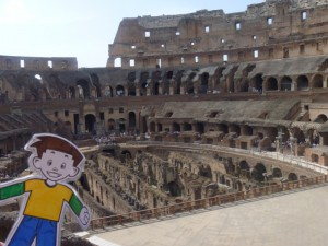 Flat Stanley in the Colosseum