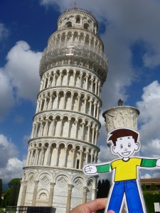 Flat Stanley with the Leaning Tower of Pisa