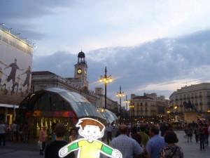 Flat Stanley in Puerta del Sol