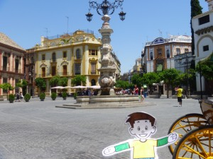 Flat Stanley in Sevilla