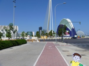 Flat Stanley enjoying the architecture in Valencia