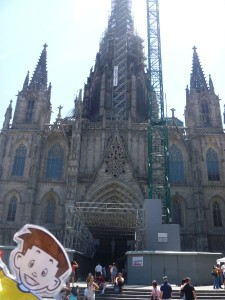 Flat Stanley at the Barcelona Cathedral