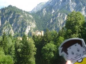 Flat Stanley at Schloss Hohenschwanstein