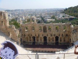 Flat Stanley at the Theatre of Dionysis